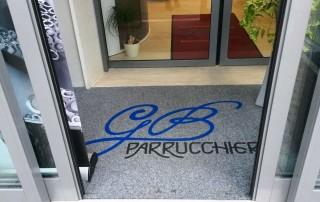 Asciugapasso da interno con logo personalizzato GB Parruchieri
