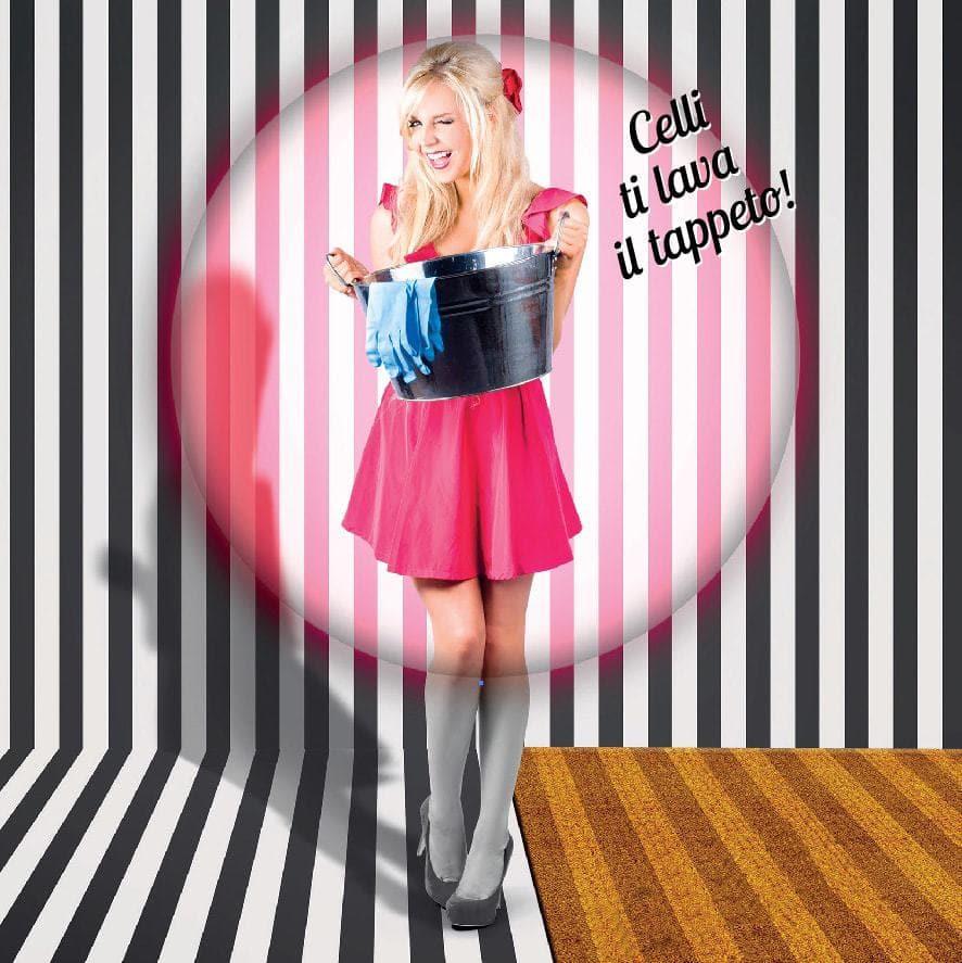 Foto per pubblicizzare il servizio di lavaggio e sanitizzazione proposto da zerbini personalizzati Celli