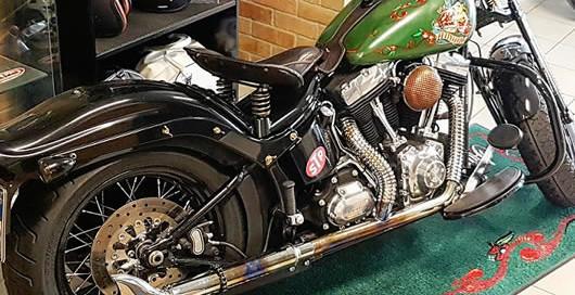 asciugapasso personalizzato con logo della moto harley davidson