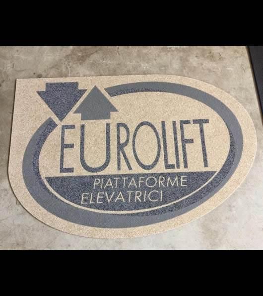 zerbino personalizzato con logo dell'azienda eurolift piattaforme elevatrici