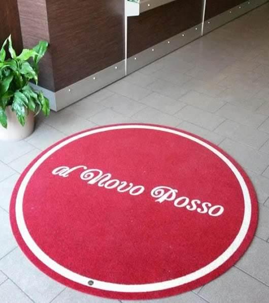 zerbino circolare personalizzato per la pizzeria Al Novo Posso