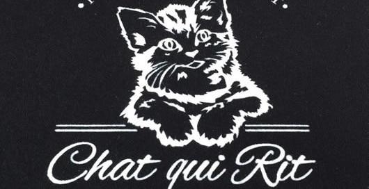zerbino personalizzato con logo dell'Italian Bistrot Chat qui rit