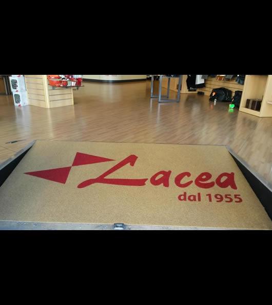 zerbino personalizzato con logo dell'azienda Lacea