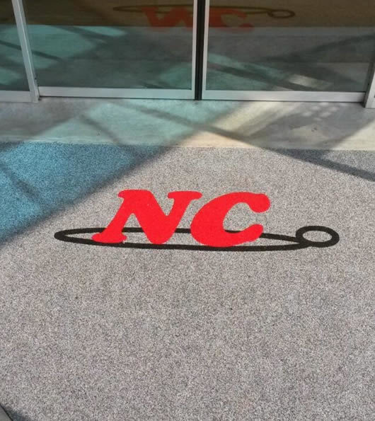 zerbino personalizzato aziendale con logo della ditta NC