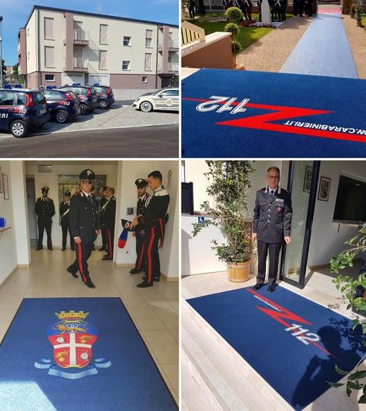 zerbino personalizzato da interno con logo dei Carabinieri