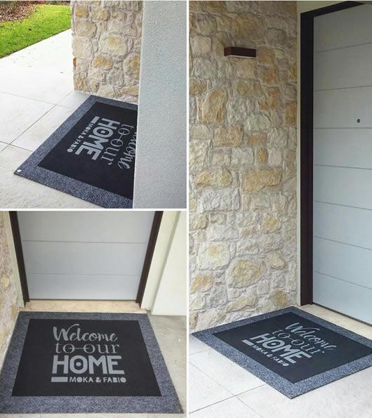 zerbino personalizzato da esterno per una casa