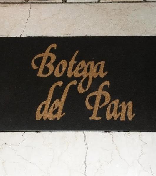 zerbino personalizzato con logo del panificio botega del pan