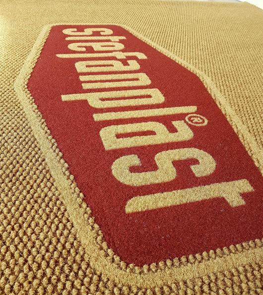 zerbino personalizzato modello Rice con particolare sul logo Stefanplast