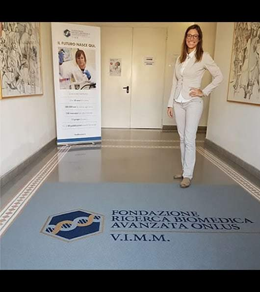 tappeto personalizzato receptions fondazione biomedica avanzata