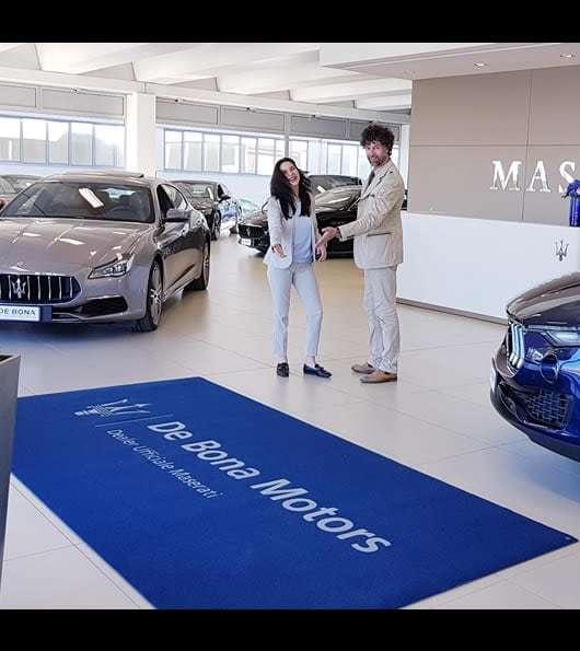 zerbino personalizzato concessionaria de bona motors maserati vicenza