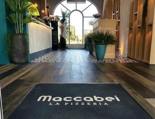Zerbino incassato a pavimento pizzeria